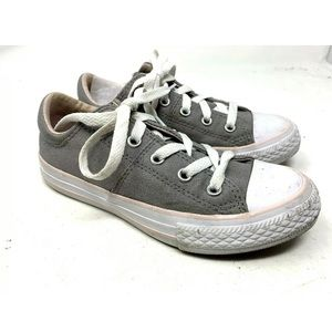 Converse Kids 13 Gray Canvas Low Sneakers 1844